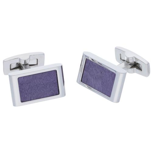 Wood Purple | Wood Cufflinks - Duncan Walton Store