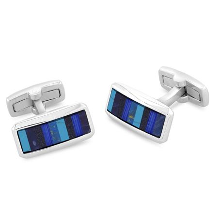 Wright Blue | Semi Precious Cufflinks | Multi Stone
