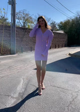 Purple Plunge Dress