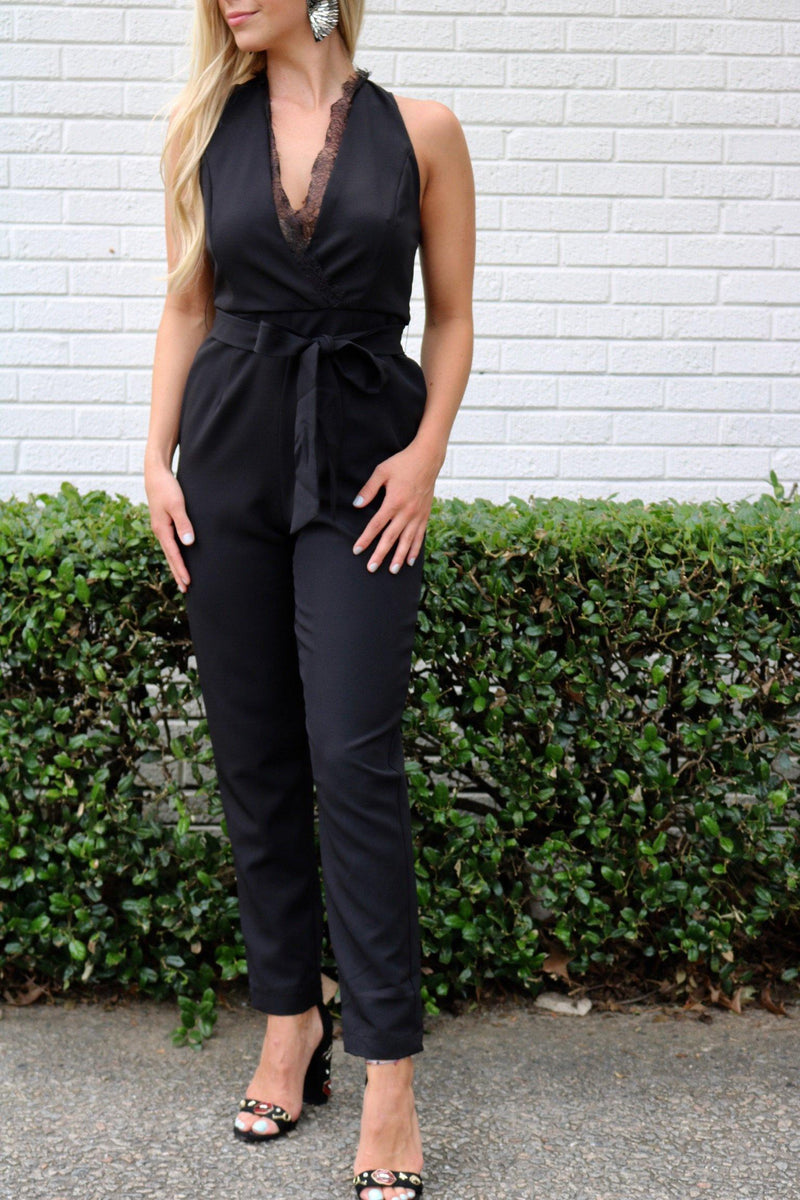 Black Tie Beauty Jumpsuit Playsuits