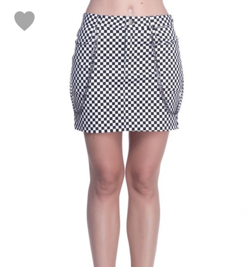 Checkmate Grunge Skirt Bottoms