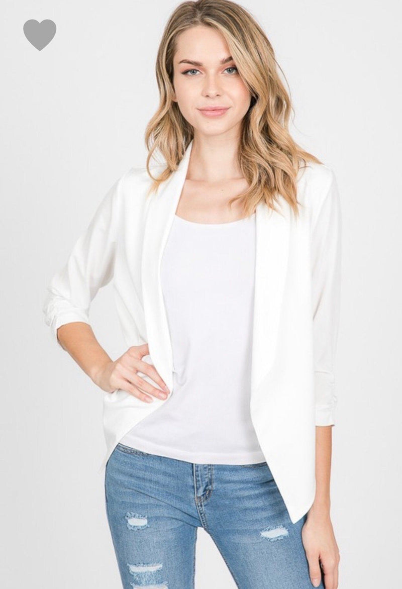 City Sleek Blazer Tops