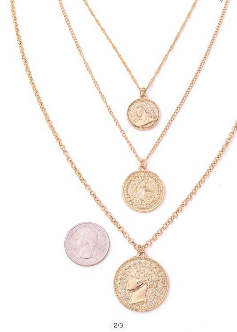 Coin Pendant Necklace Accessories