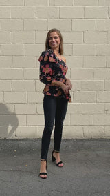 Fall Flowers Blouse