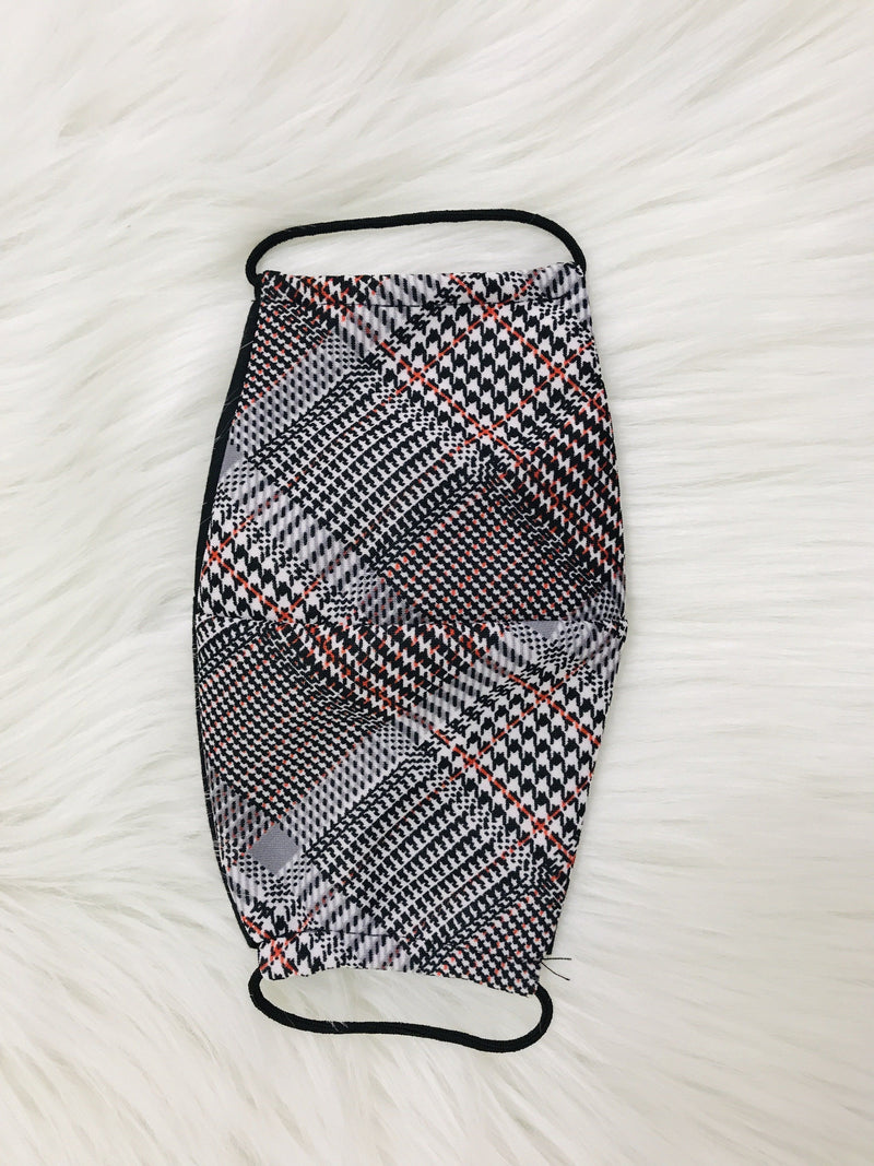 Houndstooth Plaid Mask Masks
