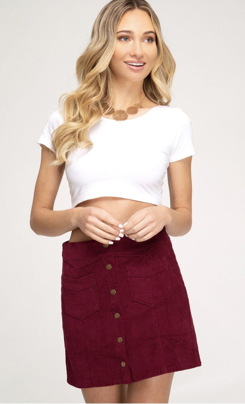 Joy Joy Corduroy Skirt Bottoms
