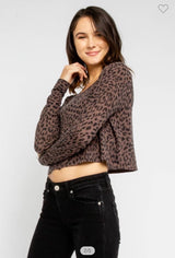 Mocha Sweater Tops
