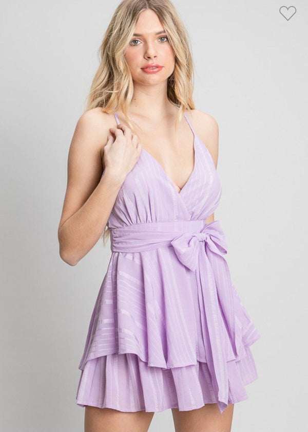 Purple Paradise Romper Dresses