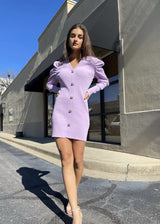 Purple Plunge Dress Dresses