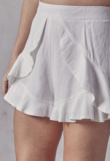Rielly Ruffle Shorts Bottoms
