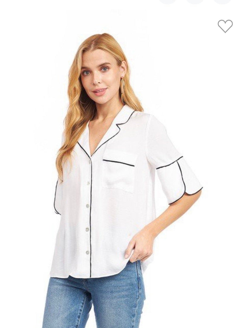 Sleek Life Button Down Tops