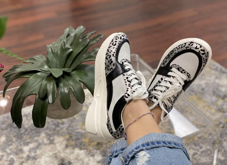 Sneaky Grey Leo Sneakers Accessories