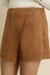 Throwing Suede Skort Bottoms