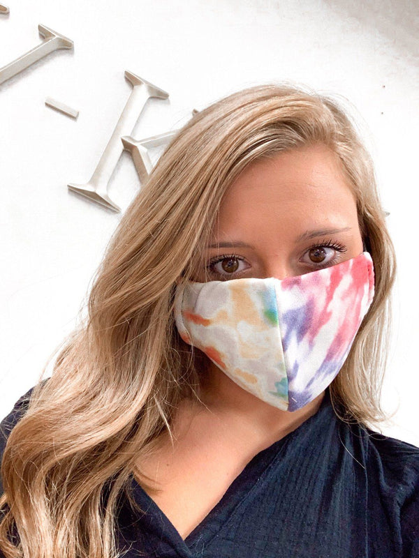 Woodstock Tie Dye Mask Masks
