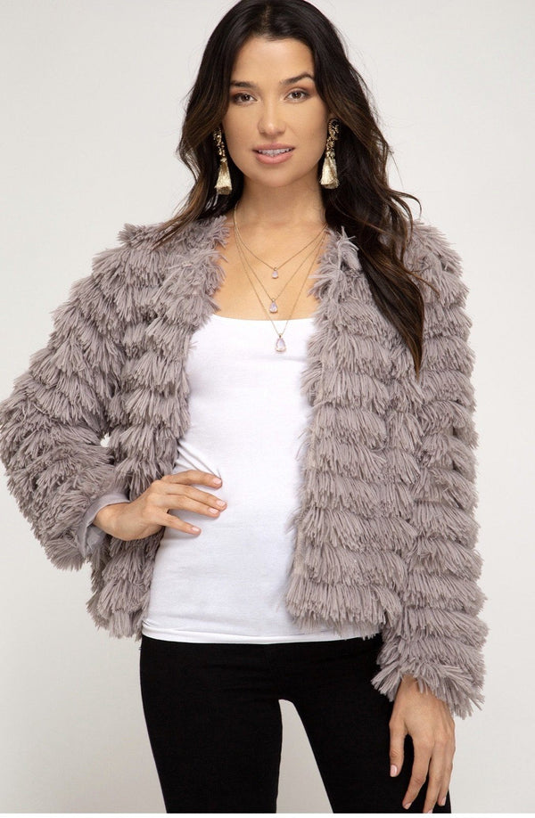 Wrap Me In Rosemary Fur Jacket Tops
