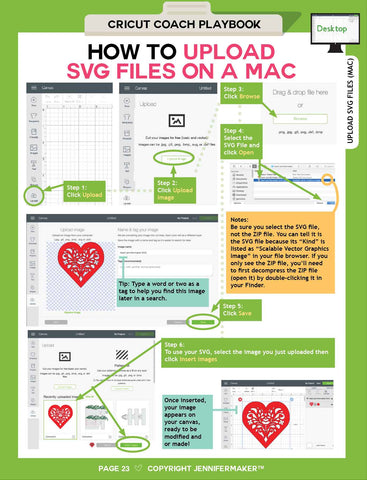 How to Upload SVG Images on the Mac from the Cricut Coach Playbook