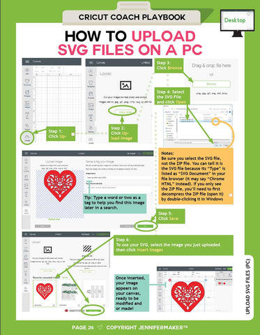How to Upload SVG Images on Windows from the Cricut Coach Playbook