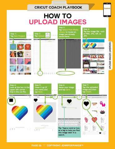 How to Upload Images on Android from the Cricut Coach Playbook
