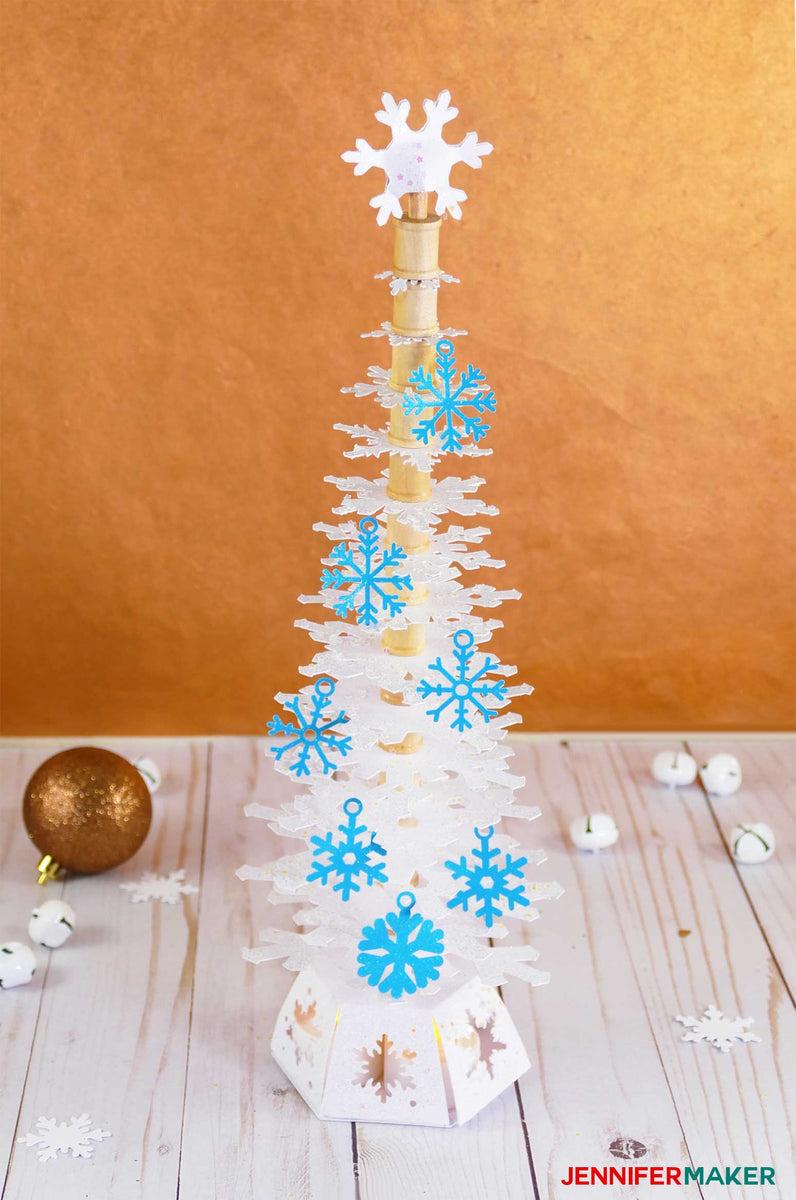 Deluxe Paper Snowflake Christmas Tree Luminary Pattern and ...