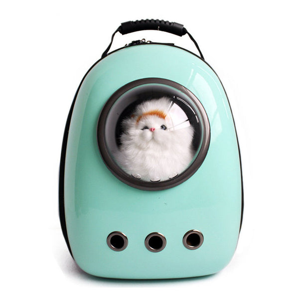 Canvas Bubble and Breathable Capsule Portable Pet Backpack-Two Sizes