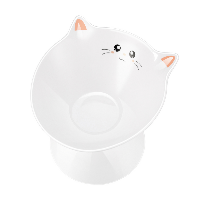 Lollimeow Ceramic Raised Pet Bowls, Stress Free(US ONLY)