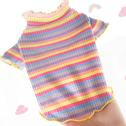 Pet Colorful Striped T-Shirt