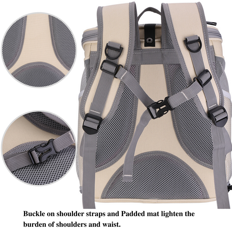 Canvas Bubble and Breathable Capsule Portable Pet Backpack-Medium