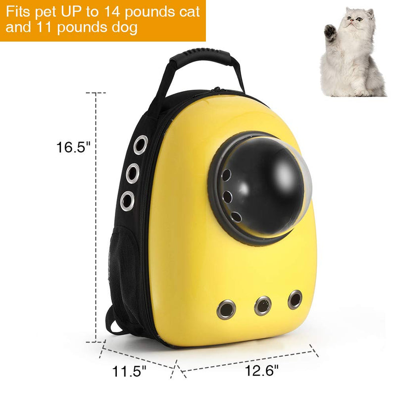 Pet Travel Carrier Backpack, Space Capsule Bubble Design, Waterproof