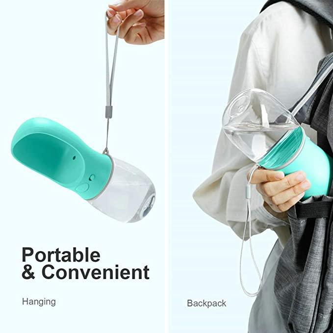 Pet Water Bottle with Bowl Dispenser for Walking/Travel,