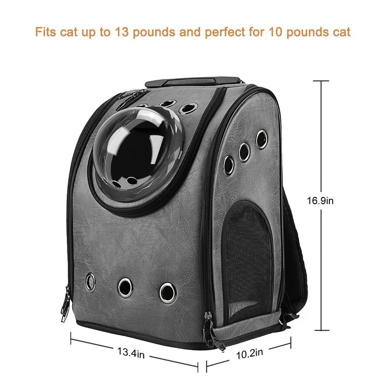Pet Leather Bubble Backpack Cat Carriers Airline Approved