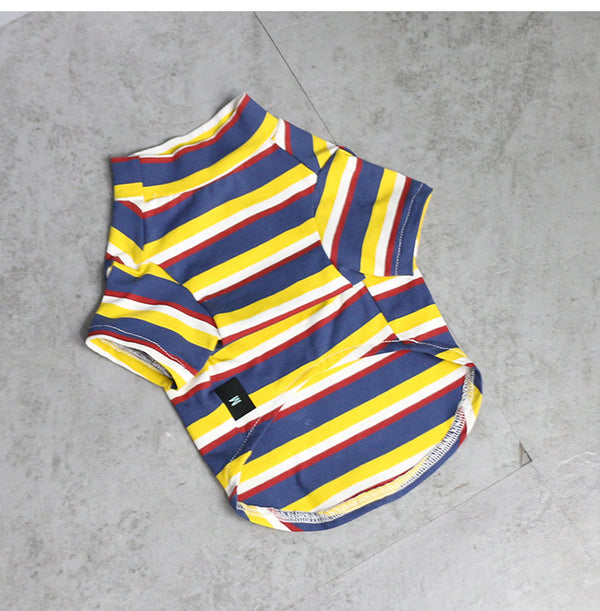 Stripe Pet Vest Breathable Summer Cotton Sleeveless Cat T-Shirt Clothes