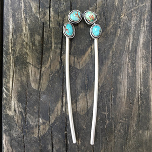 Turquoise + Sterling Silver Hairpin