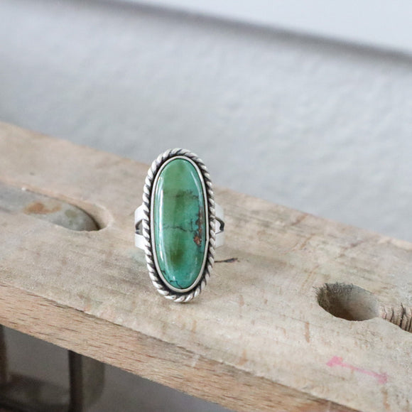 Royston Turquoise + Sterling Silver Ring • Size 6.75