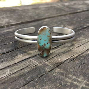 Royston Turquoise + Sterling Silver Stacker Cuff