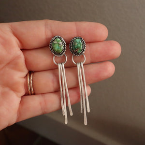 Sonoran Gold Turquoise + Sterling Silver Fringe Earrings