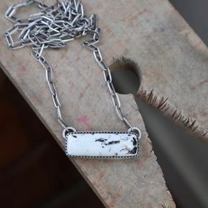 White Buffalo + Sterling Silver Pendant