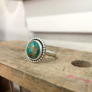 Crow Springs Turquoise + Sterling Silver Ring • Size 6