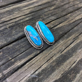 Morenci Turquoise Post Earrings