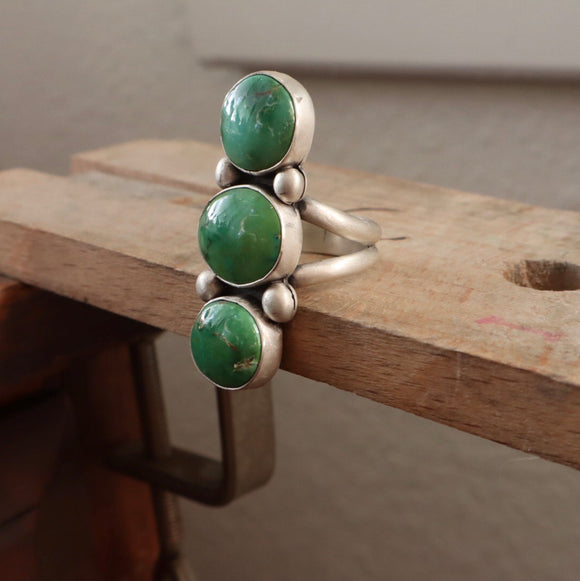 Emerald Valley Turquoise + Sterling Silver Ring • Size 8.75