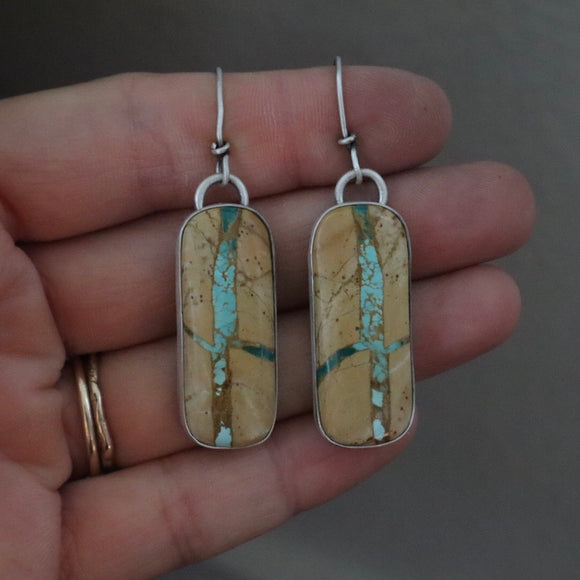 Royston Ribbon Turquoise + Sterling Silver Earrings