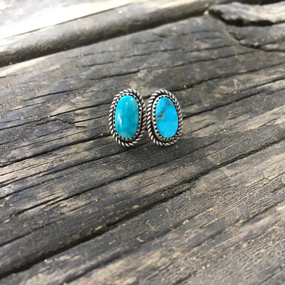 Turquoise Mountain Turquoise Stud Earrings