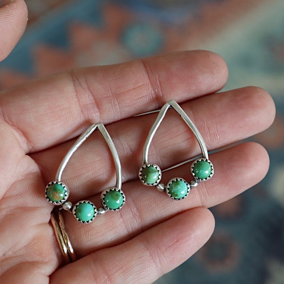 Sonoran Gold Turquoise + Sterling Silver Earrings