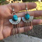 Sierra Nevada Turquoise + Sterling Silver Chandelier Earrings