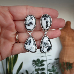 White Buffalo + Sterling Silver Earrings