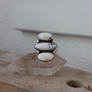 White Buffalo + Sterling Silver Ring • Size 7