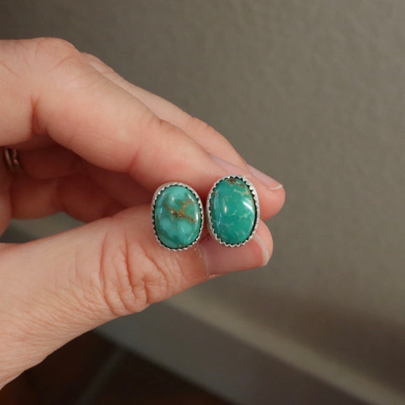 Emerald Valley Turquoise Stud Earrings