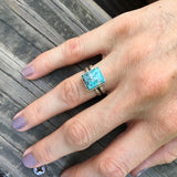 Turquoise + Sterling Turquoise Ring • Size 6.5