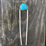Morenci Turquoise + Sterling Silver Hairpin