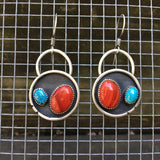 Rosarita and Turquoise Mountain Turquoise + Sterling Silver Shadowbox Earrings