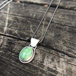 Royston Turquoise + Sterling Silver Pendant